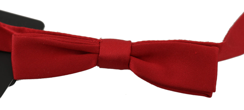 Red 100% Silk Slim Adjustable Neck Papillon Bow Tie