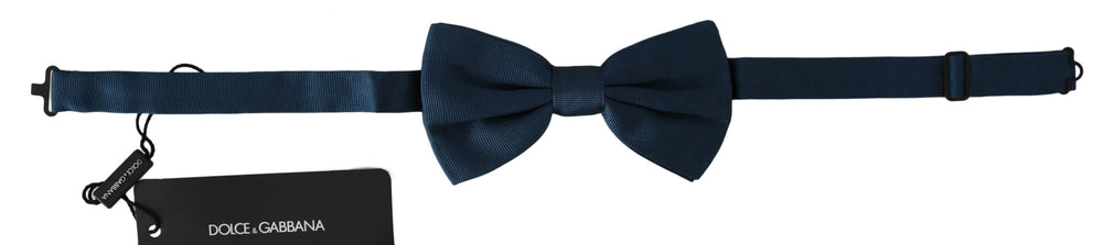 Blue 100% Silk Adjustable Neck Papillon  Bow Tie