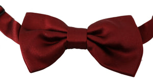 Load image into Gallery viewer, Men Red 100% Silk Adjustable Neck Butterfly Bow Tie