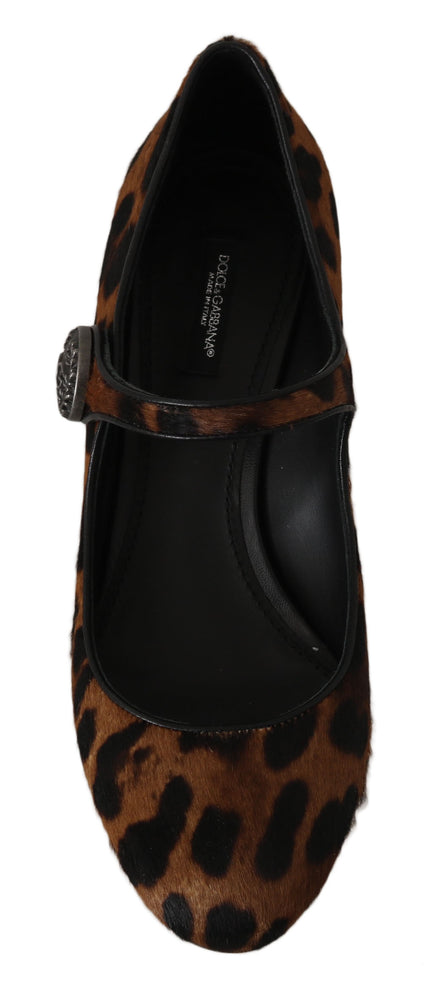 Load image into Gallery viewer, Brown Calf Hair Leather Mary Janes Shoes