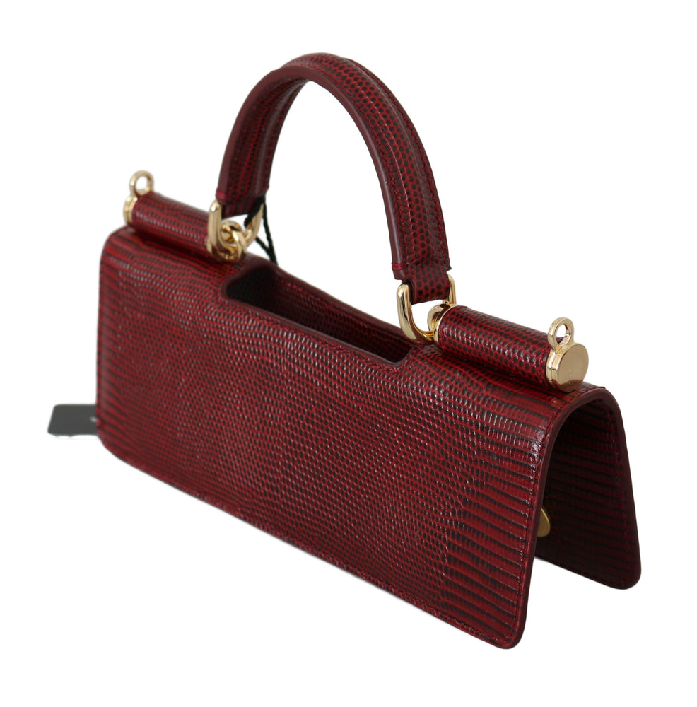 Load image into Gallery viewer, Red Leather Push Button Accessory Micro Bag