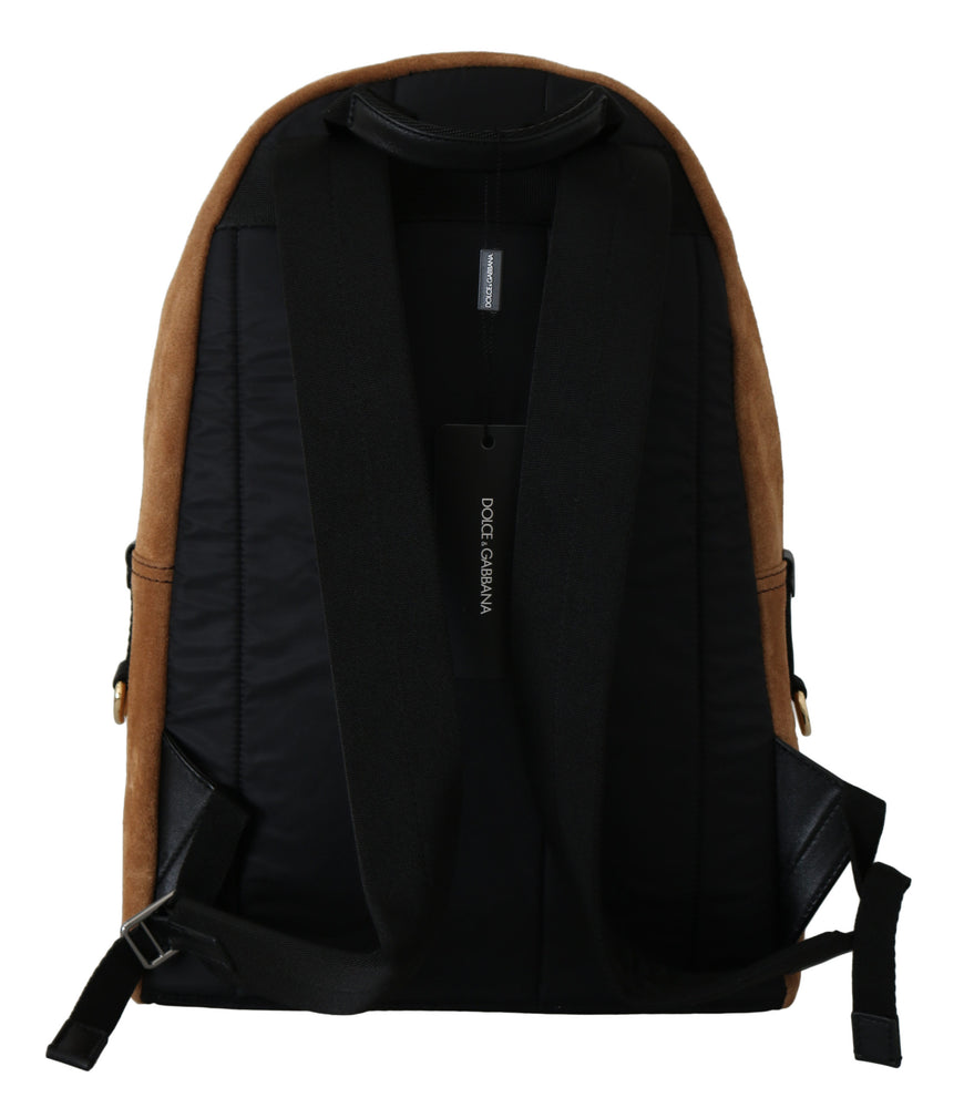 Load image into Gallery viewer, Brown Suede School Travel Backpack Borse Leather Bag