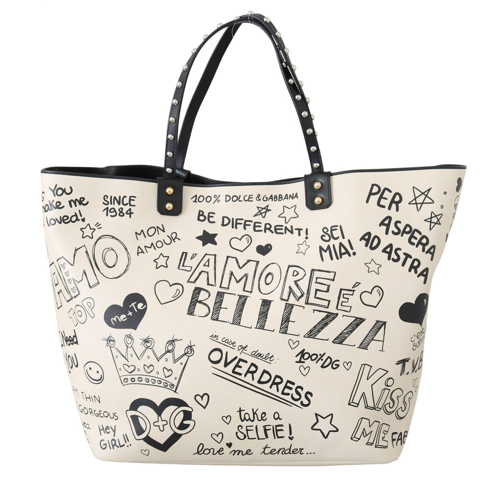 Load image into Gallery viewer, White Leather L'Amore E'Bellezza BEATRICE Bag