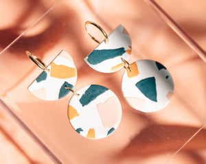 Apricot Sphere Earrings