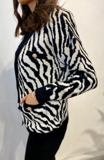 Load image into Gallery viewer, Zebra Pattern Cardigan