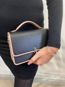 Crossbody Black And Beige Bag