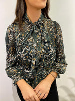 Load image into Gallery viewer, Chiffon Animal Print Blouse