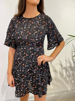 Load image into Gallery viewer, Floral Print Flared Dress