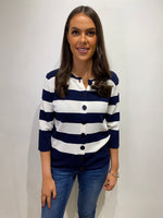 Load image into Gallery viewer, Hazel Navy Stripe Cardigan