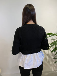 Frill Knitted Shirt Jumper