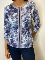 Load image into Gallery viewer, Louise Navy Full Zip Blouse