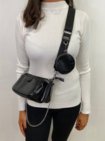 Load image into Gallery viewer, Mika Chain & Purse Crossbody Bag