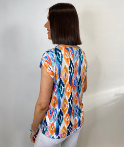 Chelsea Colourful Diamond Print Top