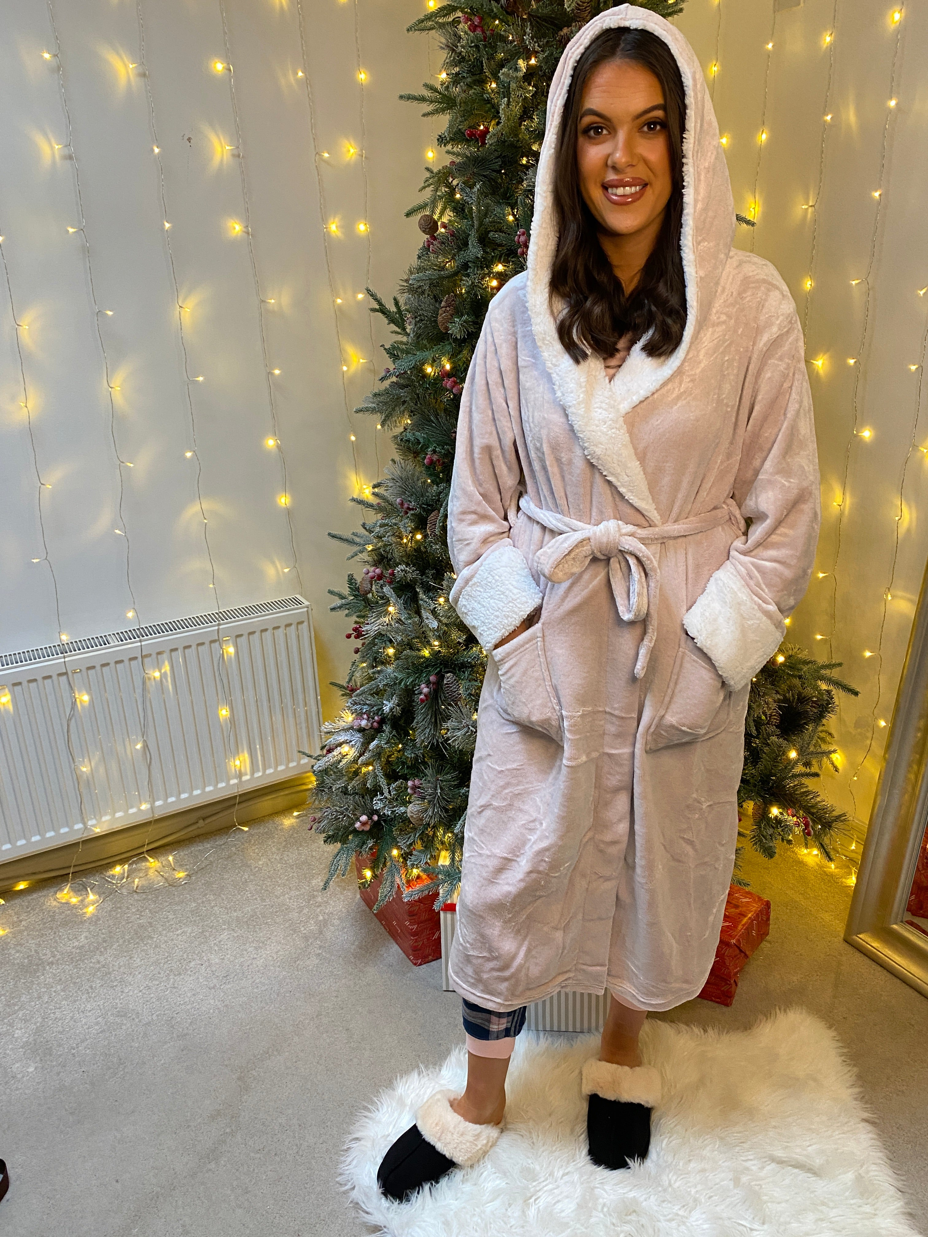 Pink Shimmer Dressing Gown