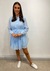Brianna Powder Blue Shirt Dress