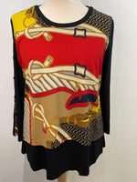 Load image into Gallery viewer, Toni Belt Print Blouse