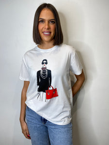 Tina Short Sleeve 'Red Bag' T-shirt