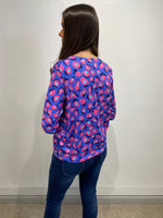 Load image into Gallery viewer, Beverly Purple Abstract Blouse