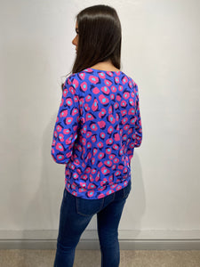 Beverly Purple Abstract Blouse