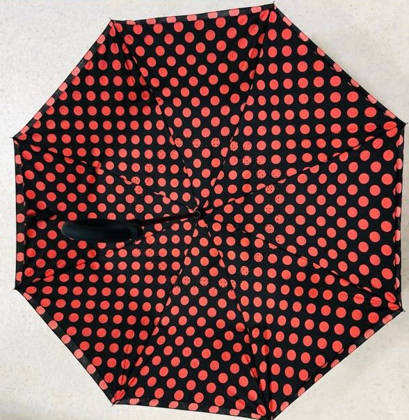 Reverse Opening Printed Umbrella