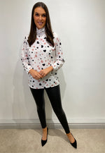 Load image into Gallery viewer, Becky White Heart Blouse