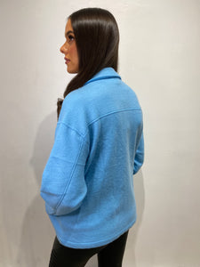 Leah Baby Blue Shacket