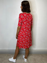 Load image into Gallery viewer, Farah Red Floral Tunic Dress