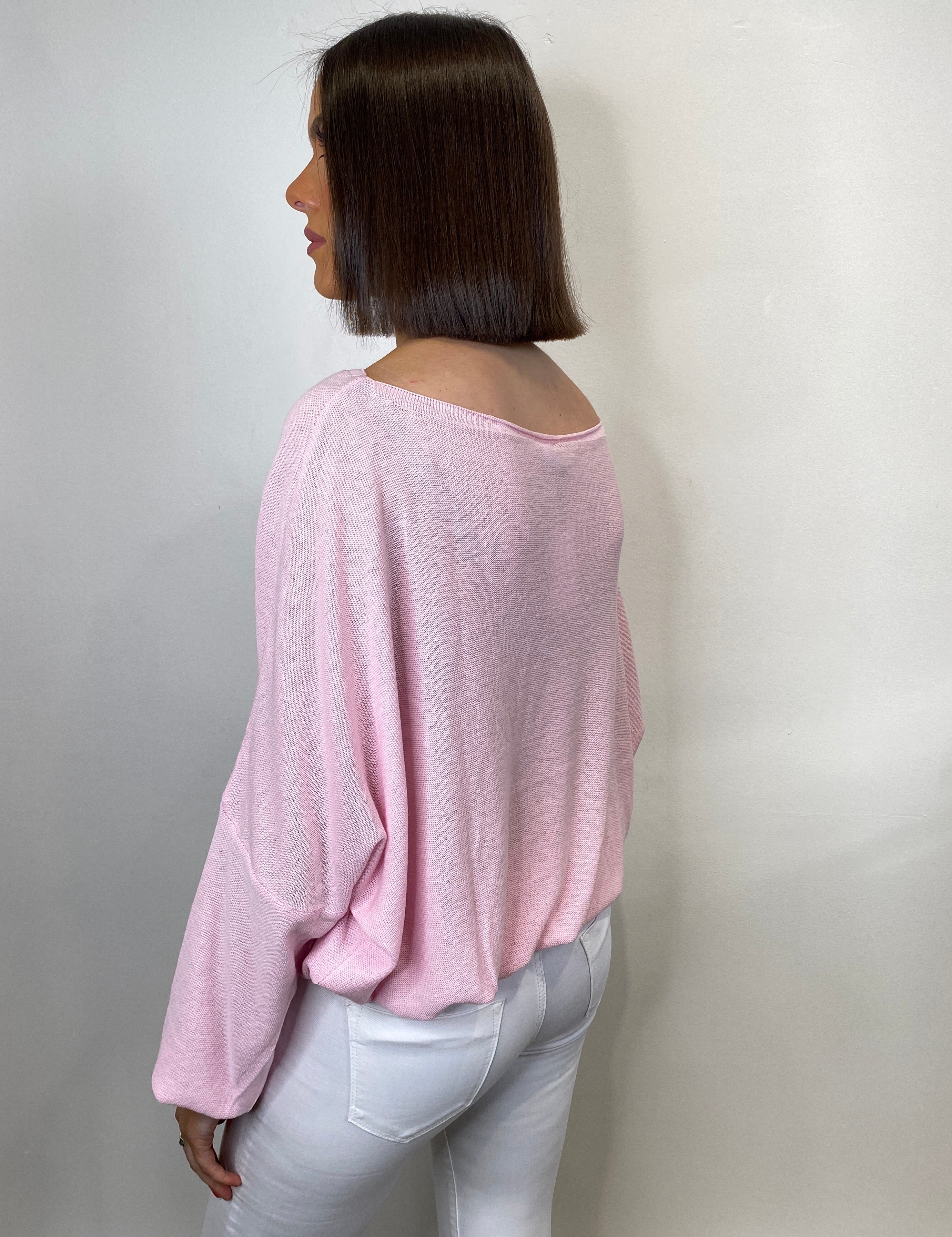 Trisha Pink Drawstring Top