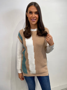 Eva Colour Block Jumper