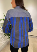 Load image into Gallery viewer, Blue Pattern Shirt