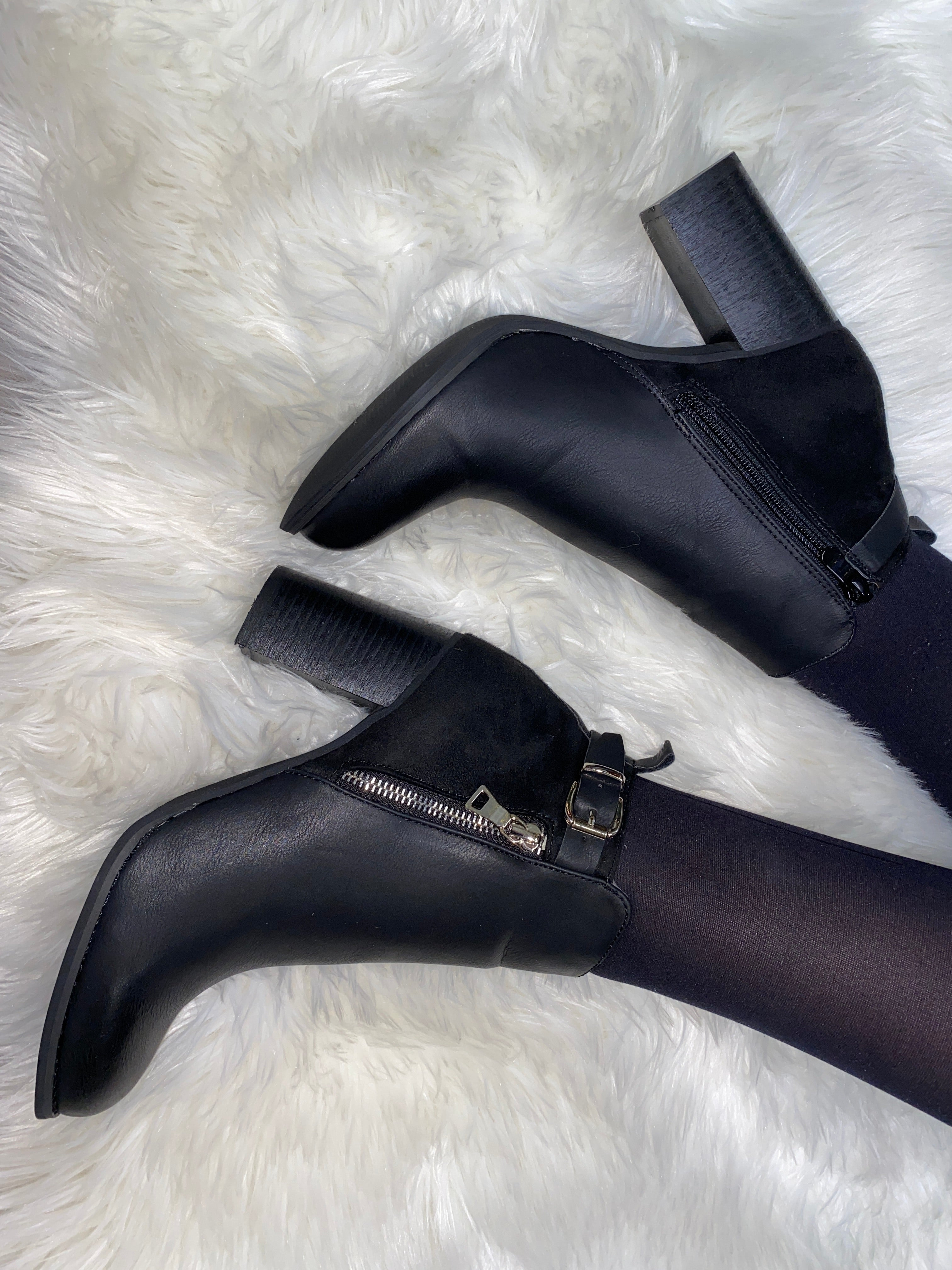 Nina Zip Detail Ankle Boot