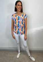 Load image into Gallery viewer, Chelsea Colourful Diamond Print Top