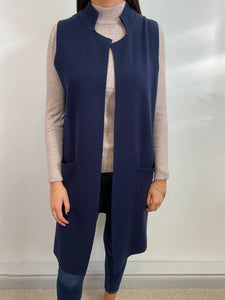Long Sleeveless Cardi