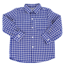 Load image into Gallery viewer, Blue Windowpane Collared Shirt