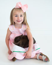 Load image into Gallery viewer, Bunny and Carrots Applique Pink Gingham Dress