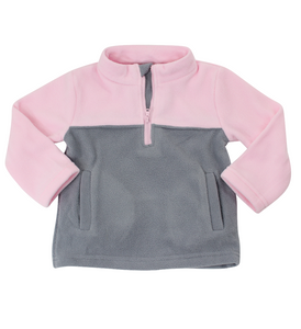Pink and Grey Fleece