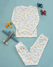 Load image into Gallery viewer, Airplanes Knit Pajama Set