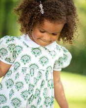 Load image into Gallery viewer, India Amory x Smockingbird Romper in Emerald Green