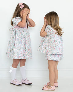 Butterfly Garden Smocked Dress
