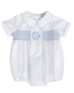 Charlie Bubble with Blue Smocking