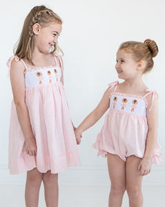 Ballerina Smocked Swiss Dot Dress