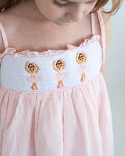 Load image into Gallery viewer, Ballerina Smocked Swiss Dot Dress