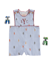 Load image into Gallery viewer, Robots Embroidered Shortall