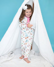 Load image into Gallery viewer, Camping Trip Pima Pajama Set with Pink Trim