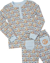 Load image into Gallery viewer, Spring Bunnies Blue Pajama Set