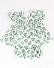 Load image into Gallery viewer, India Amory x Smockingbird Bloomer Set in Emerald Green