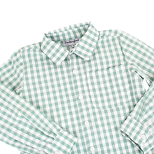 Load image into Gallery viewer, Green Check Collared Shirt