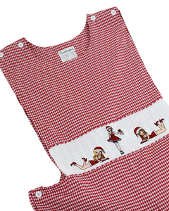Ho Ho Ho Smocked Adult Shortall