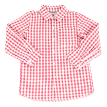 Load image into Gallery viewer, Red Check Collared Shirt