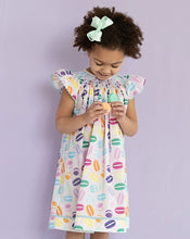 Load image into Gallery viewer, Macaron Smocked Angel Sleeve Dress
